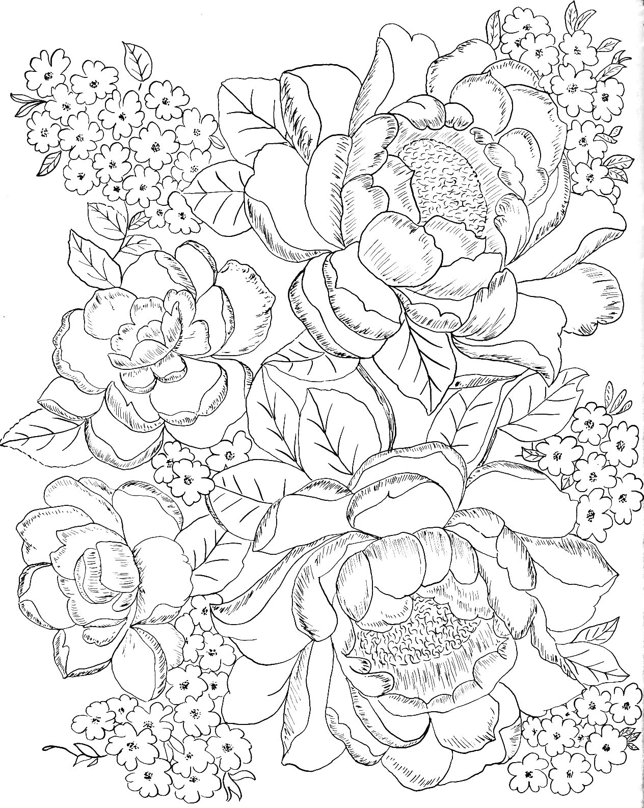 hard flower coloring pages printable difficult coloring pages coloring home flower pages coloring hard