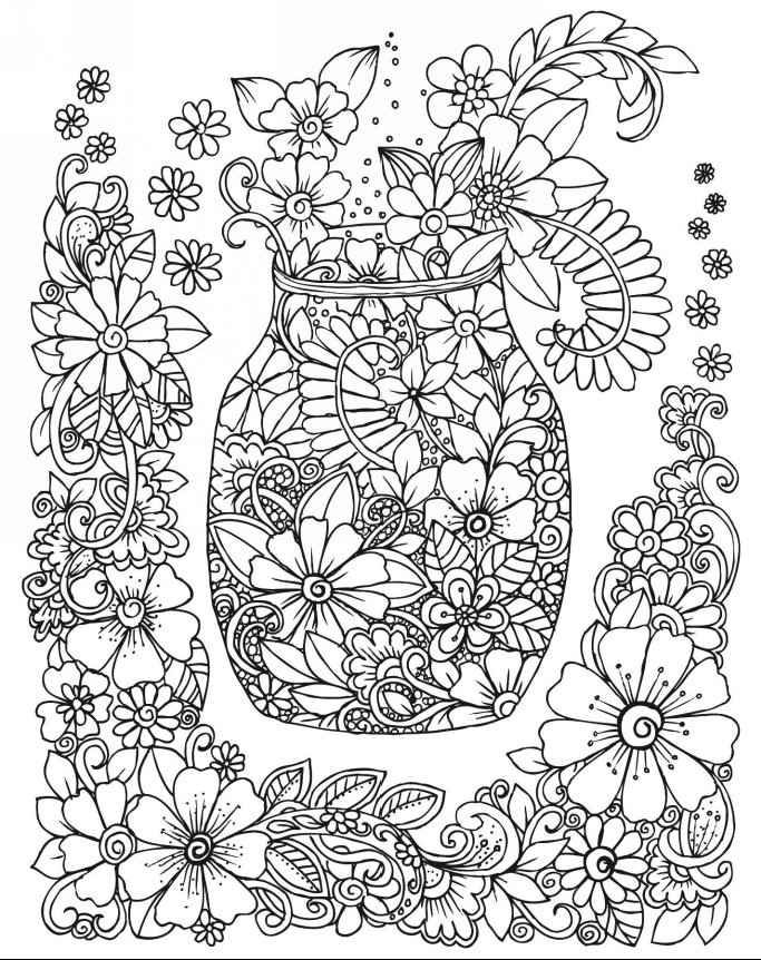 hard flower coloring pages state flower and state bird coloring page pages hard coloring flower