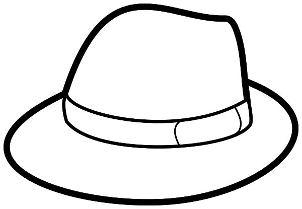 hat coloring page floppy hat coloring pages hat page coloring
