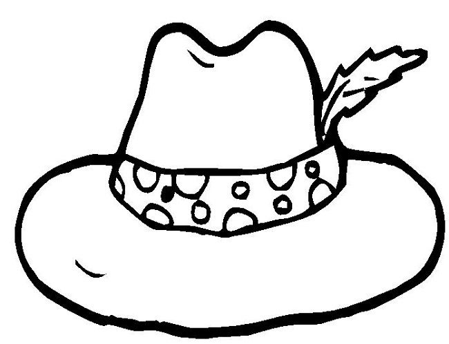 hat to color colouring page of hat color hat to