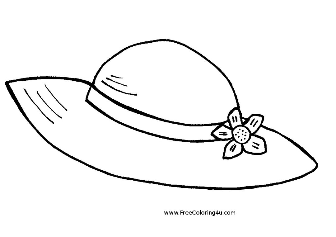 hat to color cowboy hat drawing clipart best hat to color