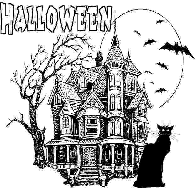 haunted house coloring pages printables printable halloween coloring pages printable halloween pages house haunted printables coloring