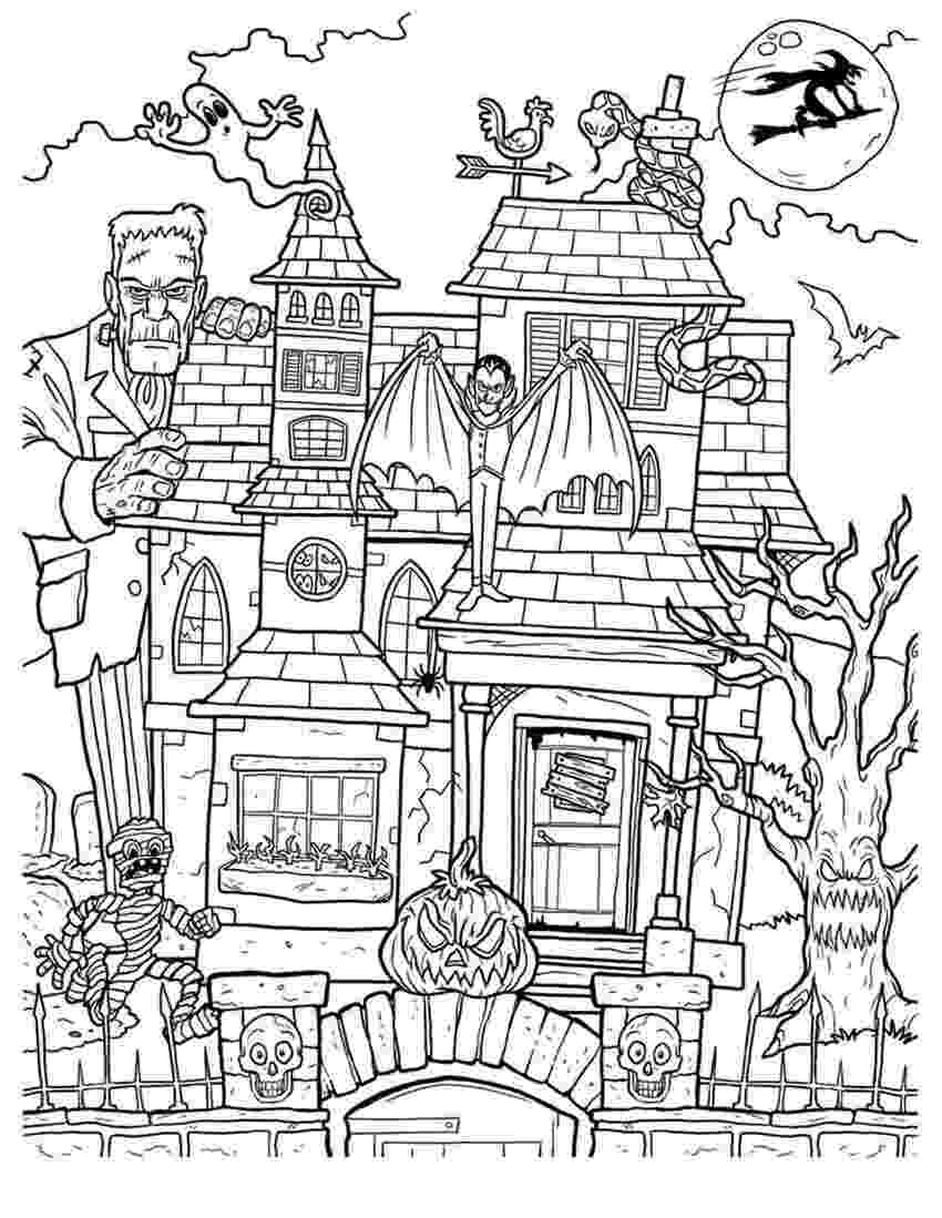haunted house coloring pages printables printable haunted house coloring pages for kids cool2bkids coloring house pages haunted printables