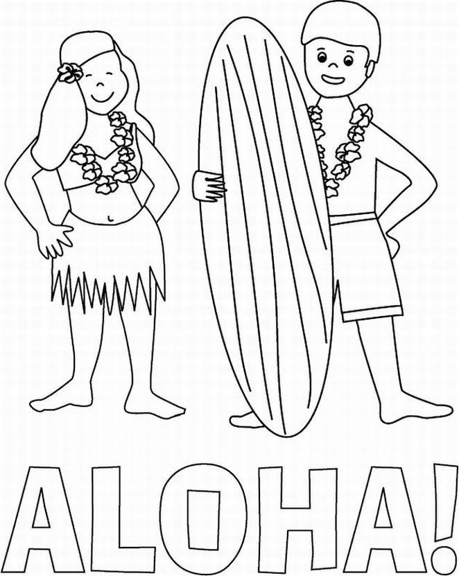 hawaii coloring aloha is hawaiian greet coloring page netart coloring hawaii