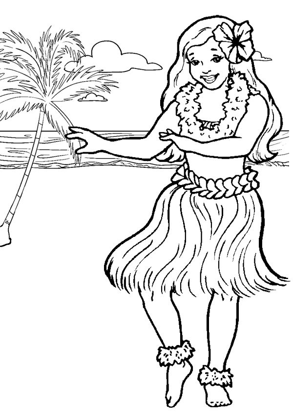 hawaiian pictures to color hawaii state beauty coloring pages to kids to hawaiian color pictures