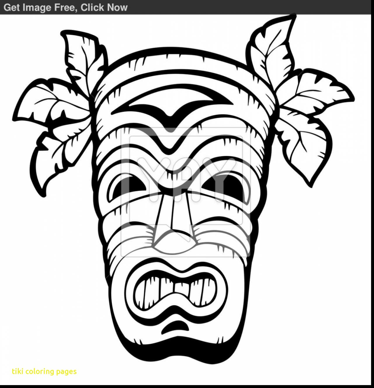 hawaiian pictures to color tiki head drawing at getdrawingscom free for personal to hawaiian pictures color