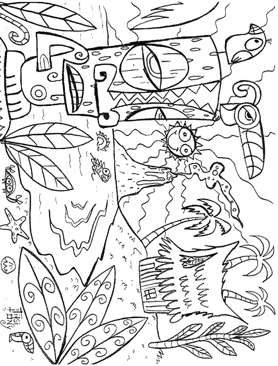 hawaiian themed pictures of hawaii coloring pages for kids and for adults day pictures themed hawaiian