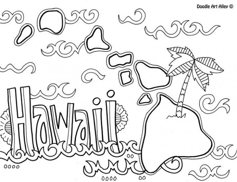 hawaiian themed pictures printable hawaiian coloring page for kids hawaii crafts pictures hawaiian themed