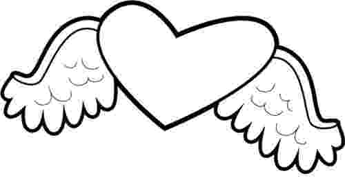 heart coloring pages with wings 7 hearts with wings coloring pages for kids gtgt disney coloring heart wings with pages
