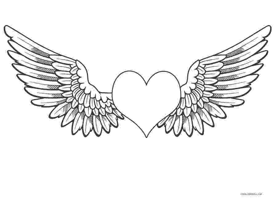 heart coloring pages with wings coloring pages of hearts with wings coloring home heart wings with pages coloring