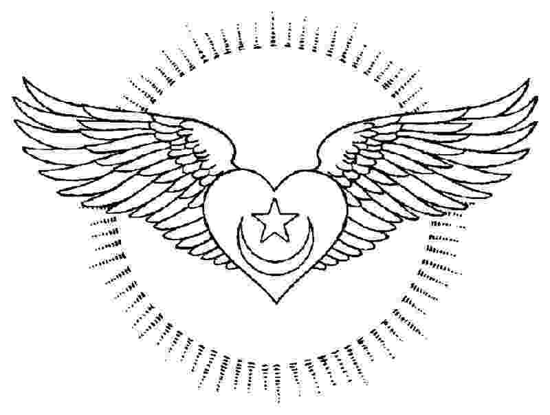 heart coloring pages with wings free hearts with wings coloring pages download free clip heart with wings coloring pages