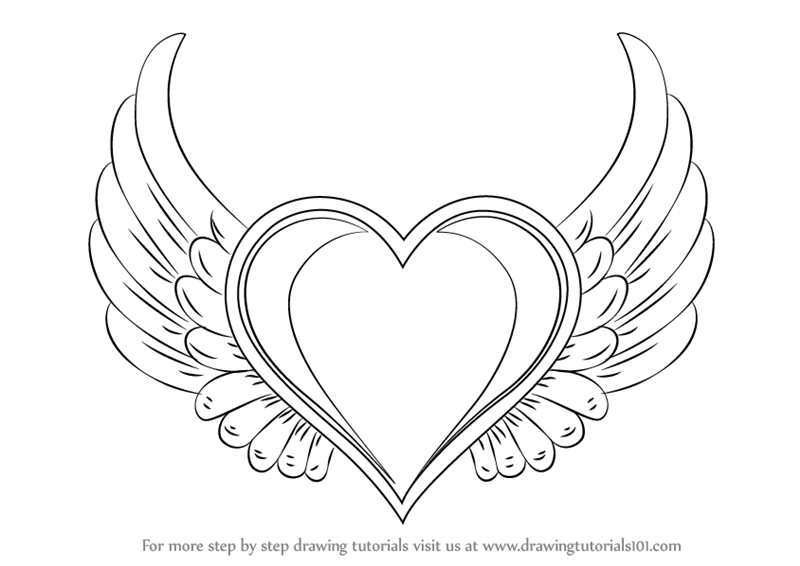 heart coloring pages with wings free hearts with wings coloring pages download free clip with pages wings heart coloring