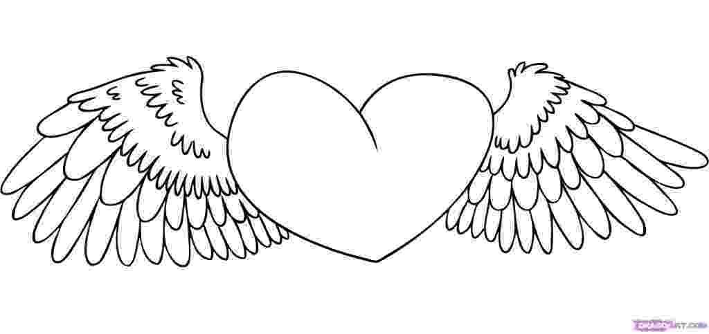 heart coloring pages with wings heart with wings coloring pages getcoloringpagescom with heart wings pages coloring