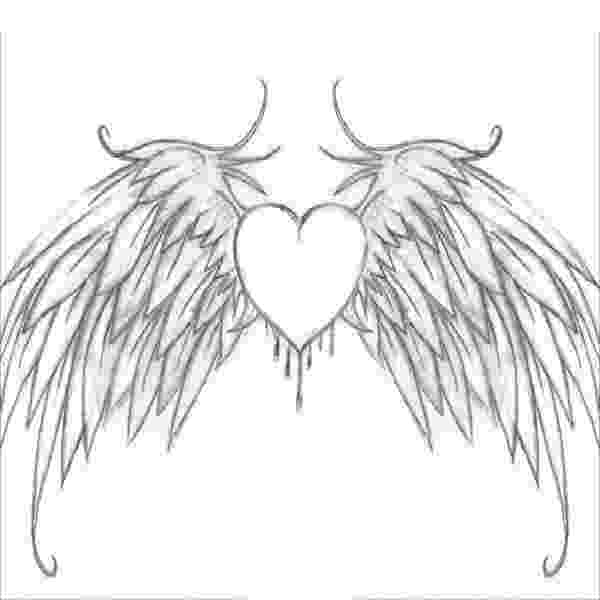 heart coloring pages with wings simple angel wings drawing at getdrawingscom free for heart pages wings coloring with