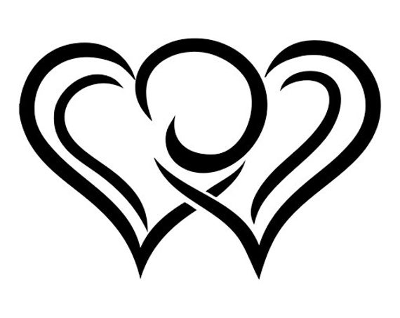 heart pictures heart open heart outline logo laptop cup decal svg digital heart pictures