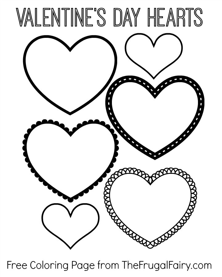 hearts coloring pictures free valentine39s day hearts coloring page the frugal fairy pictures coloring hearts