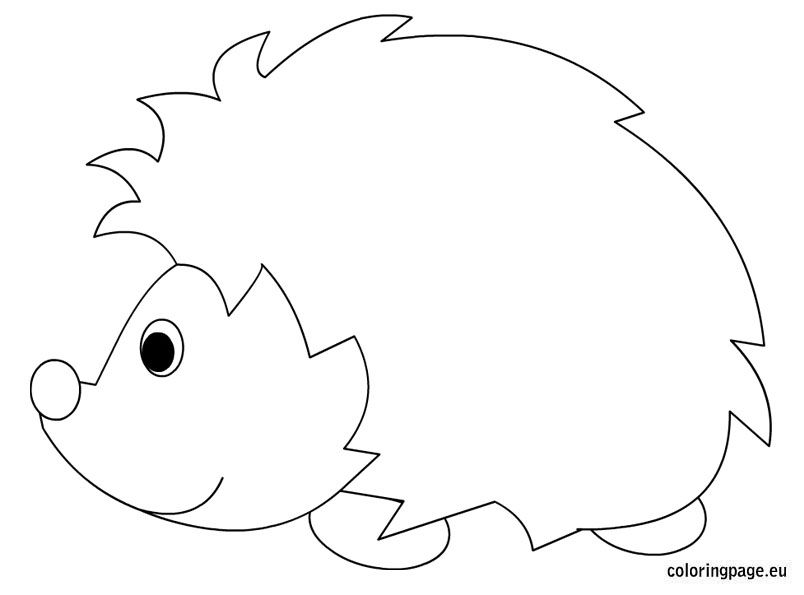 hedgehog picture to colour hedgehog coloring page getcoloringpagescom colour picture to hedgehog