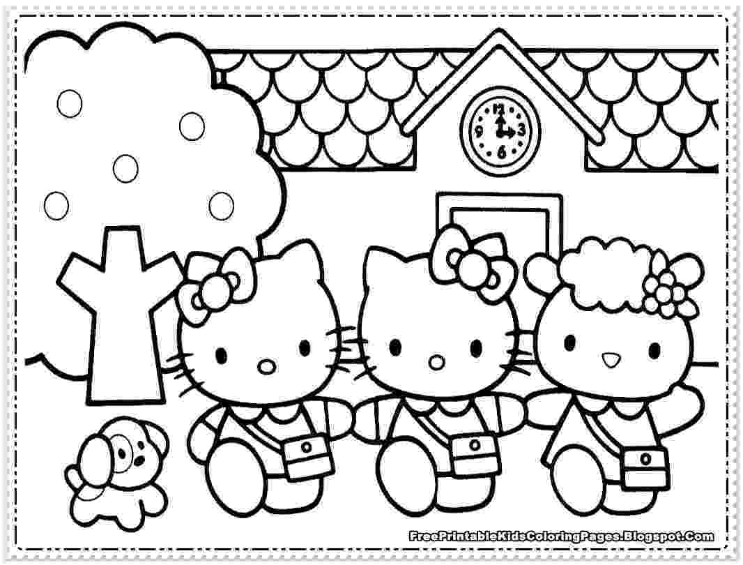 hello kitty coloring pages free february 2015 free coloring sheet free pages kitty coloring hello
