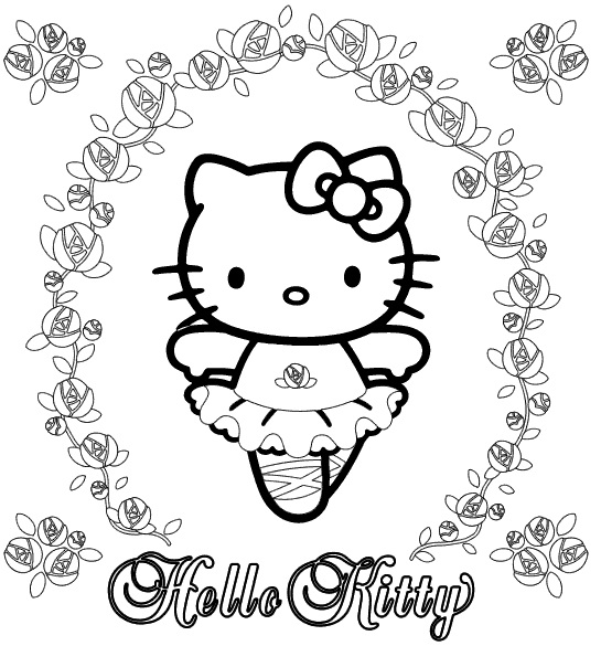 hello kitty dancing coloring pages 100 ideas to try about dance coloring pages dovers pages kitty dancing coloring hello