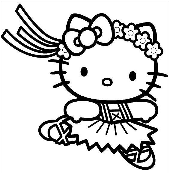 hello kitty dancing coloring pages coloring pages hello kitty ballerina coloring pages for free hello pages kitty coloring dancing