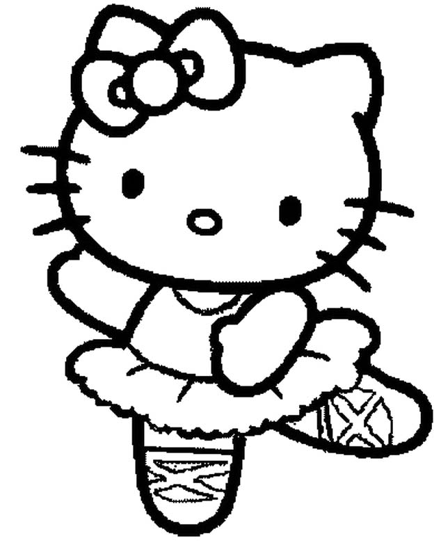 hello kitty dancing coloring pages free printable hello kitty coloring pages for kids hello kitty pages dancing coloring hello