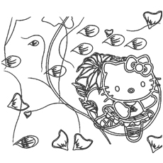 hello kitty dancing coloring pages hello kitty coloring hello kitty and kitty on pinterest pages coloring dancing kitty hello