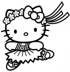 hello kitty dancing coloring pages hello kitty dancing 1 coloring page free coloring pages kitty coloring pages dancing hello