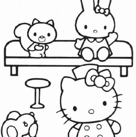 hello kitty dancing coloring pages here are three more very cute and pretty hello kitty pages kitty coloring dancing hello