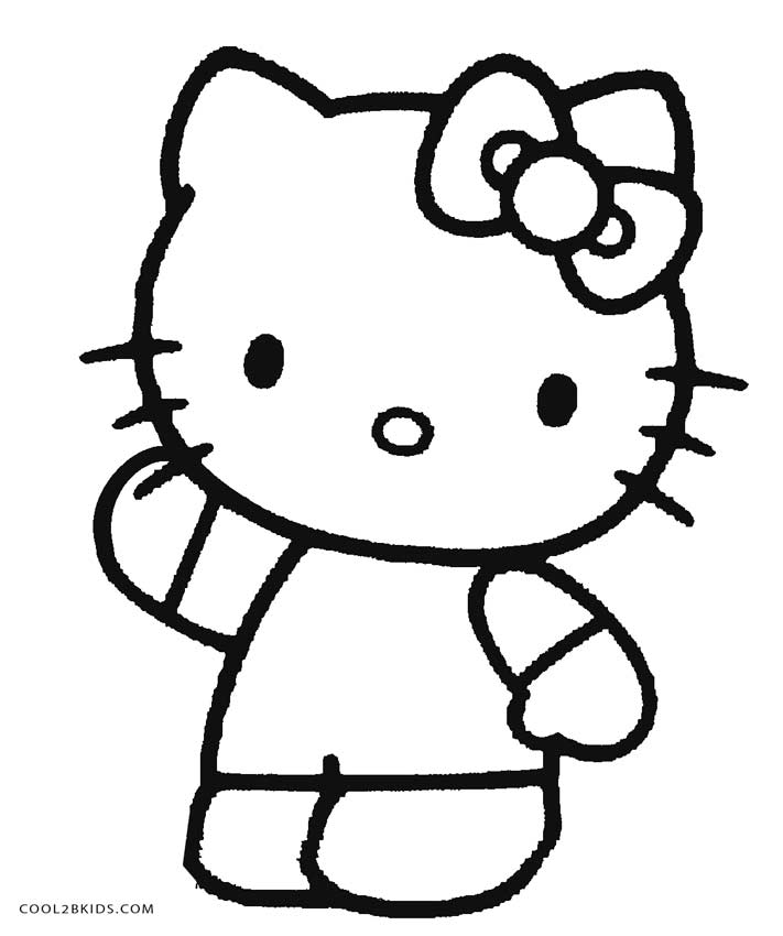 hello kitty free coloring pages free printable hello kitty coloring pages for pages free coloring kitty pages hello