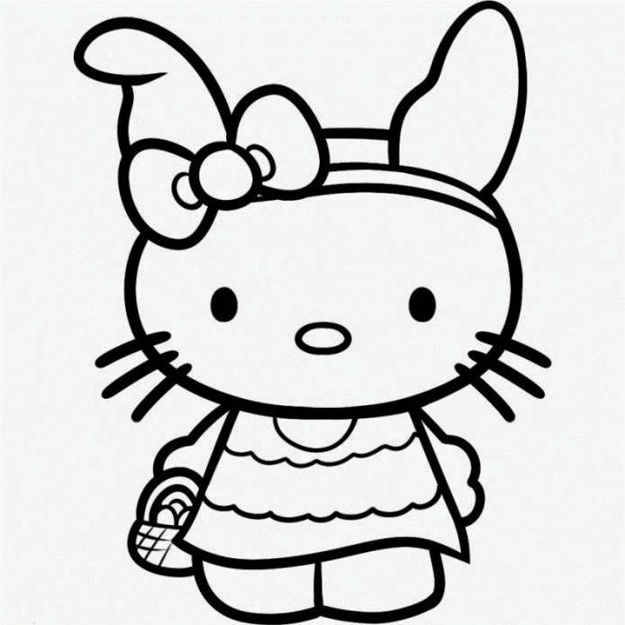 hello kitty free coloring pages hello kitty birthday coloring pages slim image pages coloring kitty free hello