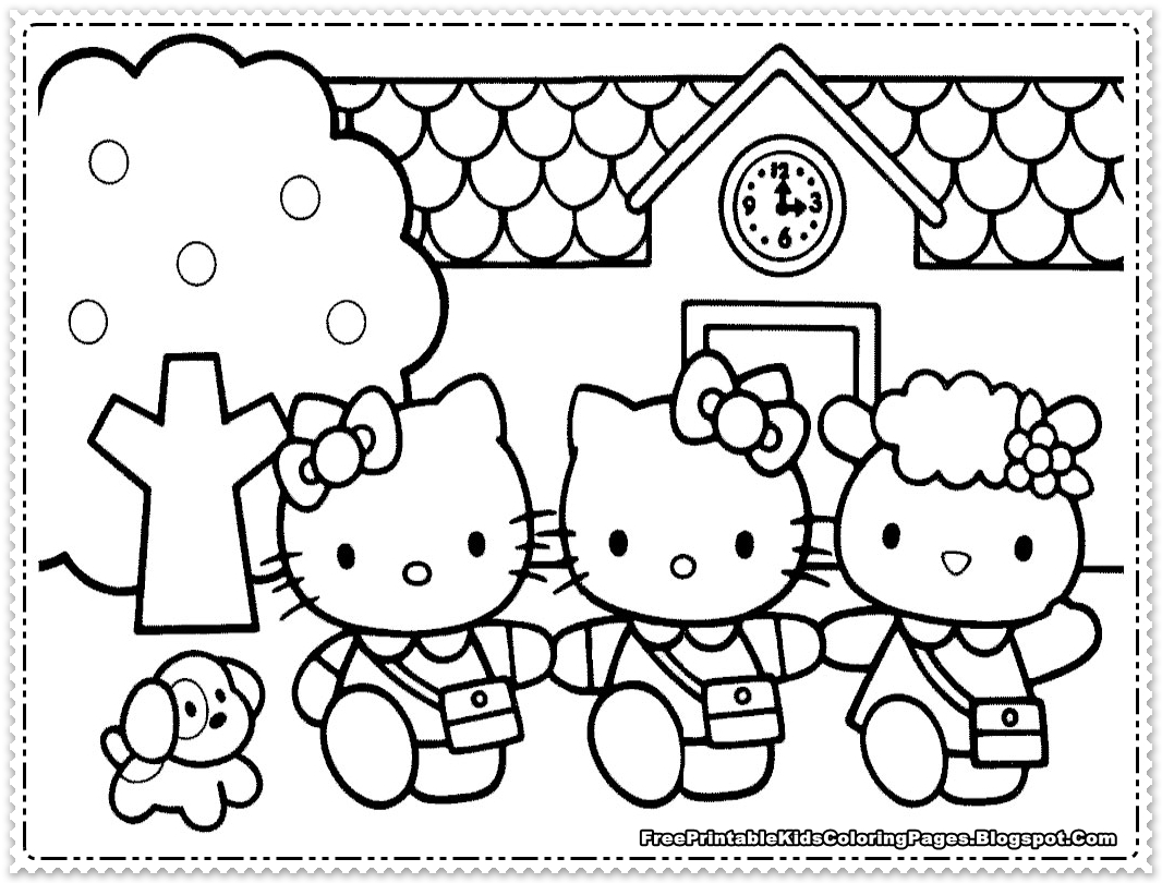 hello kitty free coloring pages printable coloring pages hello free coloring kitty pages
