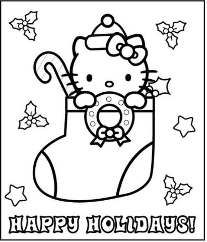 hello kitty holiday coloring pages coloring pages september 2011 hello kitty holiday pages coloring