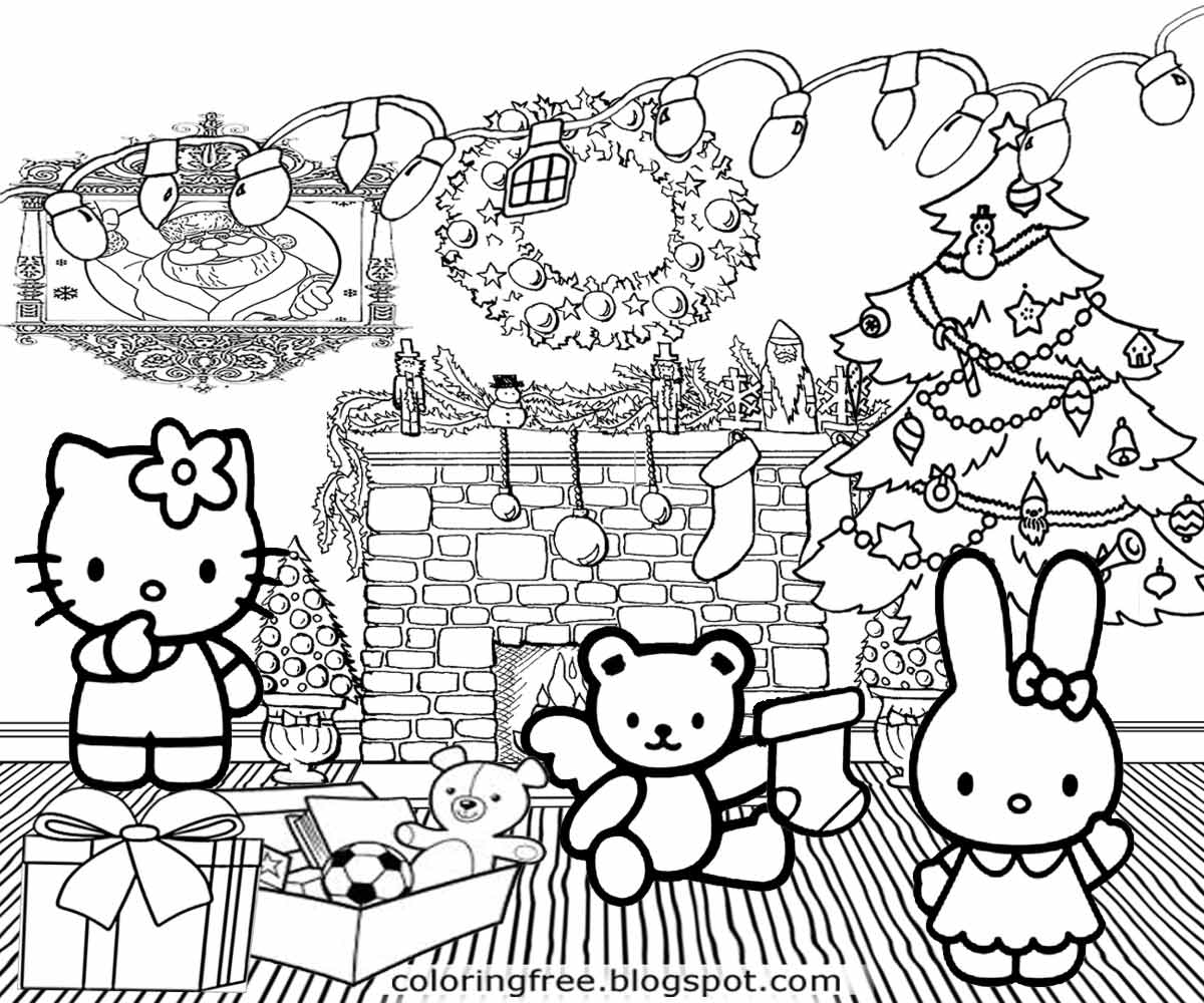 hello kitty holiday coloring pages hello kitty christmas coloring pages getcoloringpagescom hello holiday coloring pages kitty