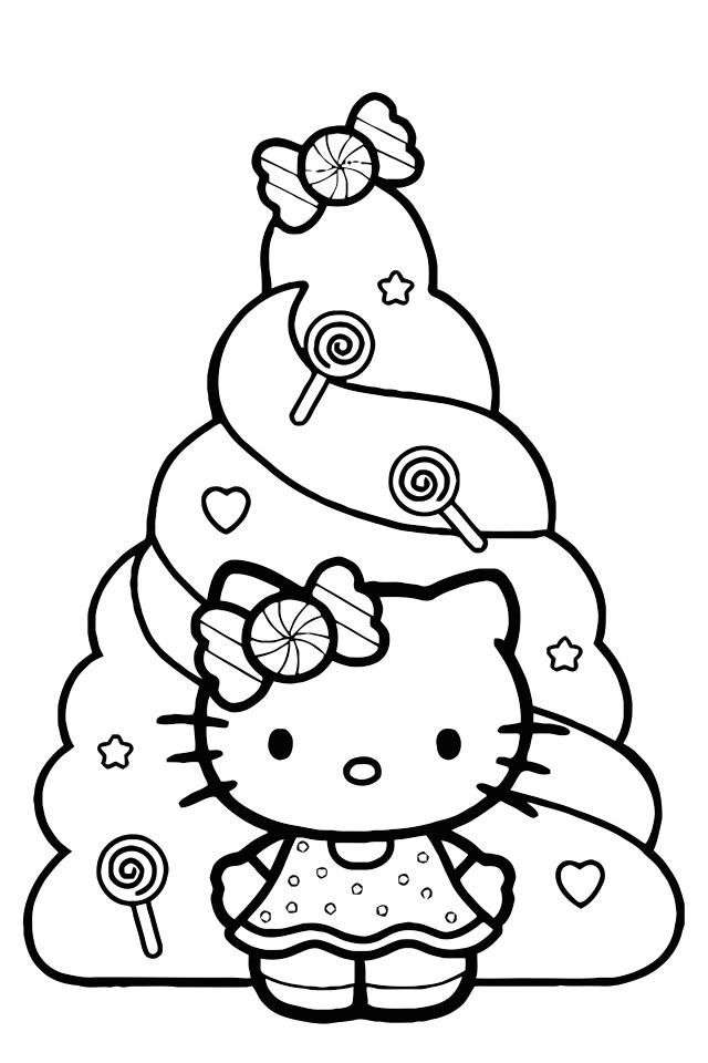 hello kitty holiday coloring pages hello kitty christmas coloring pages getcoloringpagescom hello pages coloring holiday kitty