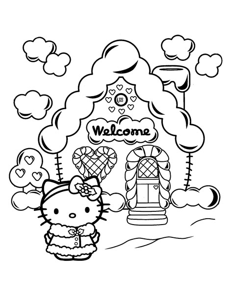 hello kitty holiday coloring pages hello kitty christmas coloring pages getcoloringpagescom kitty coloring holiday pages hello