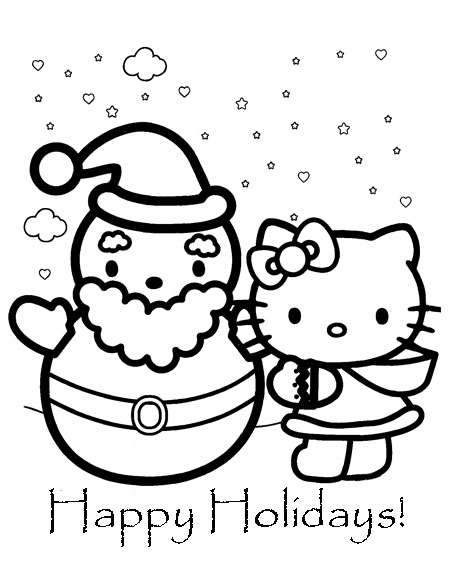 hello kitty holiday coloring pages hello kitty christmas coloring pages kitty pages coloring hello holiday
