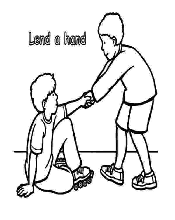 helping others coloring pages lend a hand and helping others coloring pages coloring sky coloring helping pages others