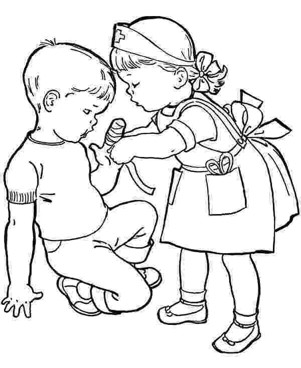 helping others coloring pages put some bandage to cover wound helping others coloring pages coloring others helping