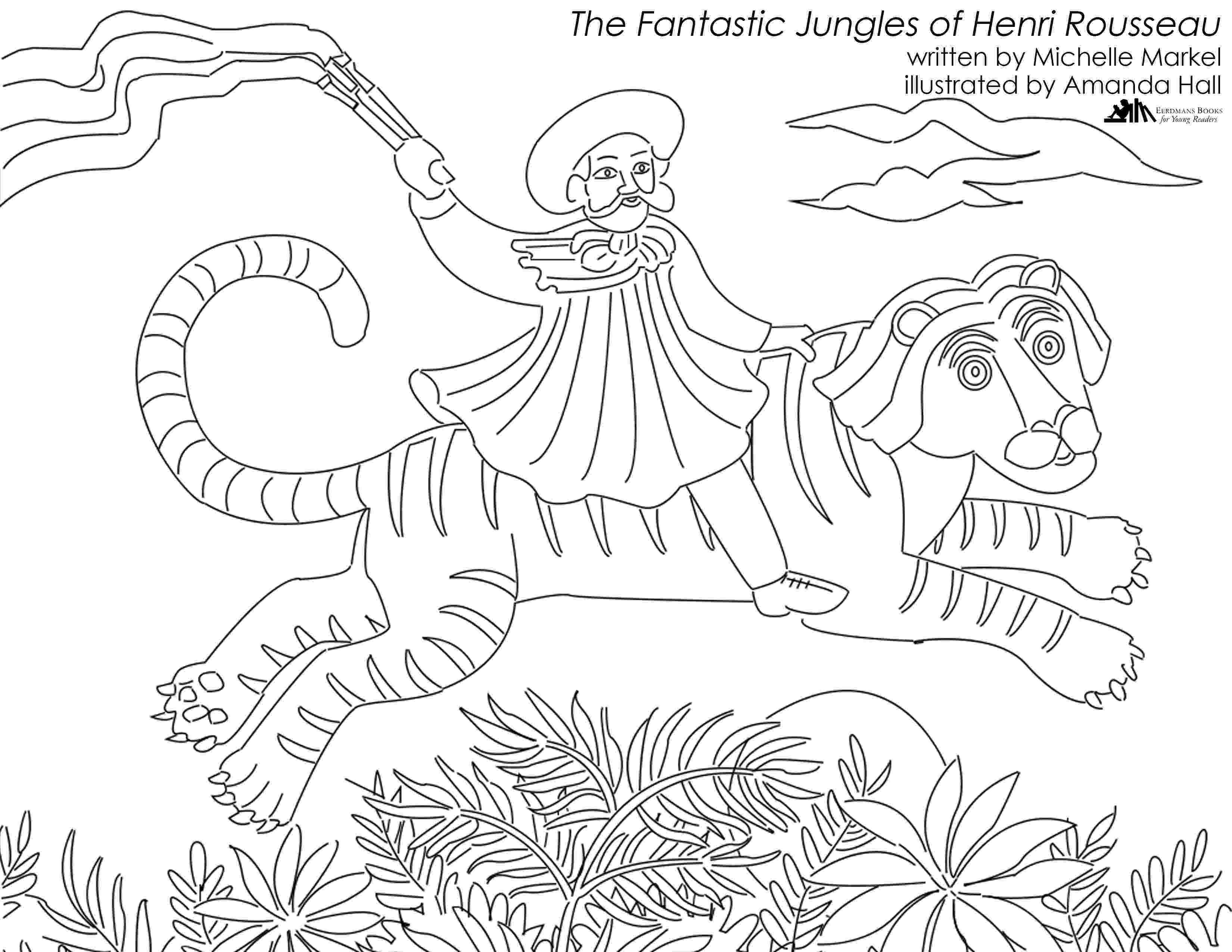 henri rousseau coloring pages henri rousseau coloring pages coloring pages for free rousseau henri pages coloring