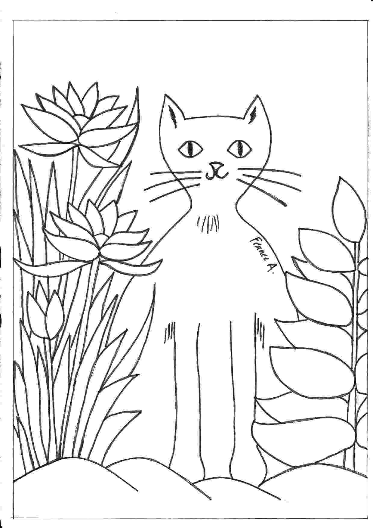 henri rousseau coloring pages romero britto coloring pages free coloring pages henri pages coloring rousseau