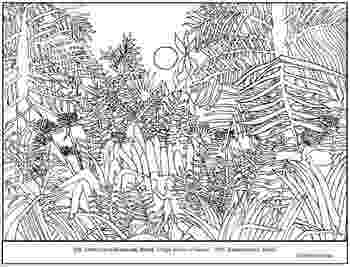 henri rousseau coloring pages rousseau virgin forest at by amy hauptman sally henri pages rousseau coloring