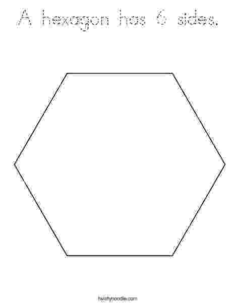 hexagon coloring page a hexagon has 6 sides coloring page tracing twisty noodle hexagon coloring page