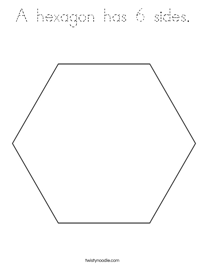 hexagon coloring page a hexagon has 6 sides coloring page tracing twisty noodle hexagon page coloring