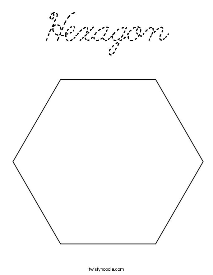 hexagon coloring page hexagon coloring page cursive twisty noodle hexagon coloring page
