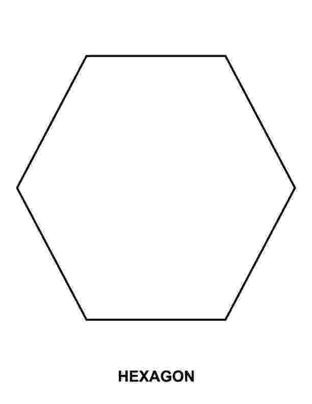 hexagon coloring page hexagon coloring page kinderart hexagon coloring page
