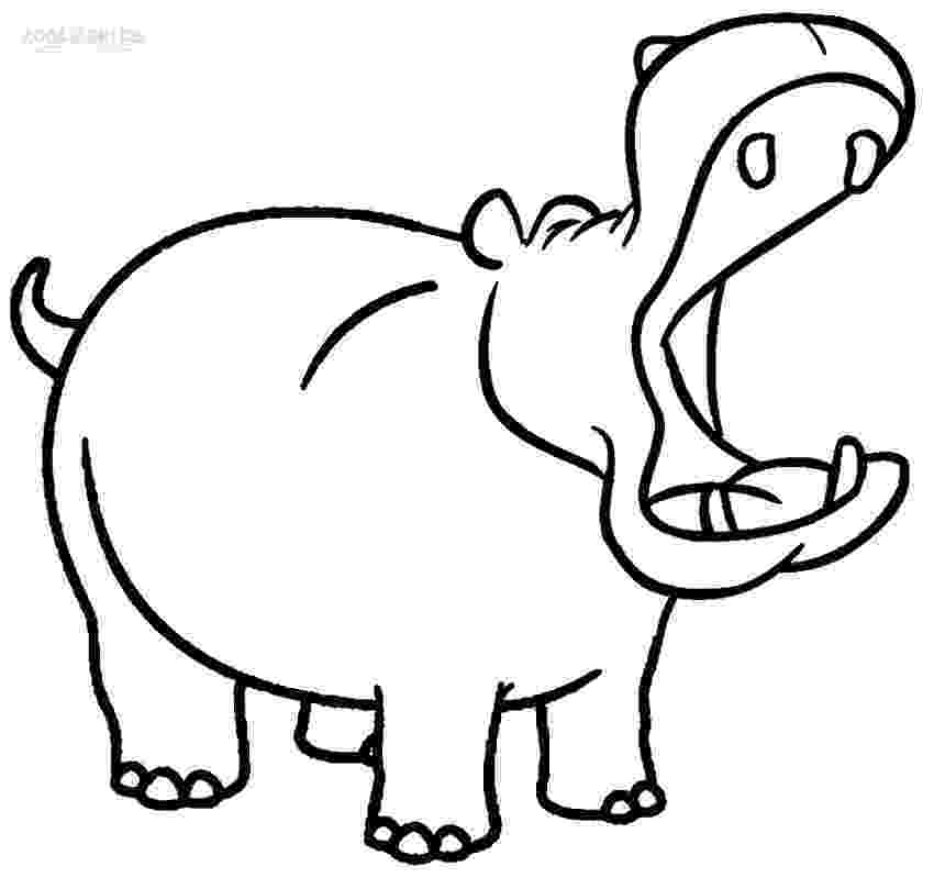 hippopotamus coloring page cute hippo coloring pages to kids page coloring hippopotamus