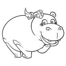 hippopotamus coloring pages cute cartoon hippo coloring page free printable coloring coloring pages hippopotamus