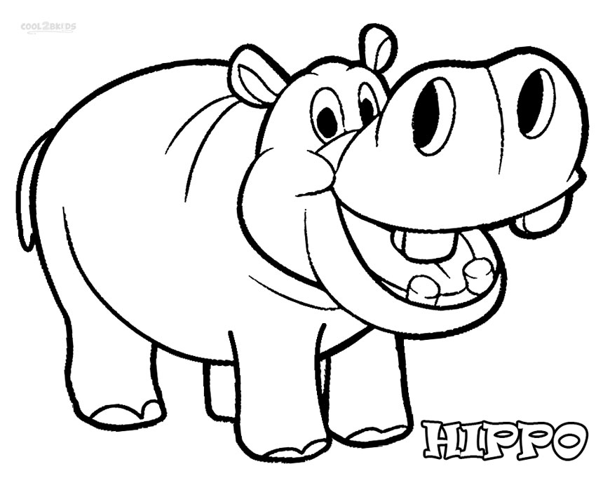 hippopotamus coloring pages hippo outline drawing at getdrawings free download coloring pages hippopotamus