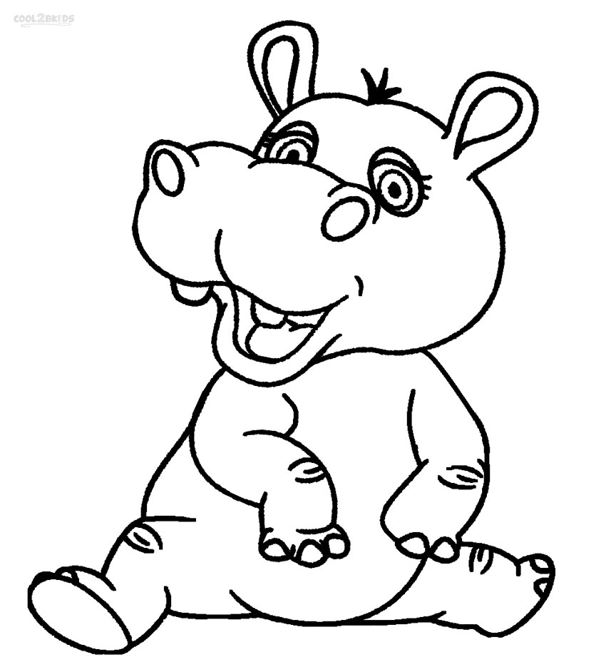 hippopotamus coloring pages printable hippo coloring pages for kids cool2bkids hippopotamus pages coloring