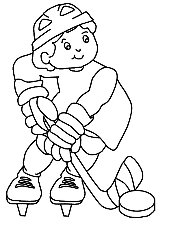hockey coloring pages to print hockey goalie drawing at getdrawingscom free for hockey to pages coloring print